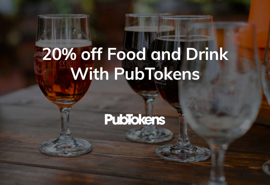 20% off Food and Drink With PubTokens